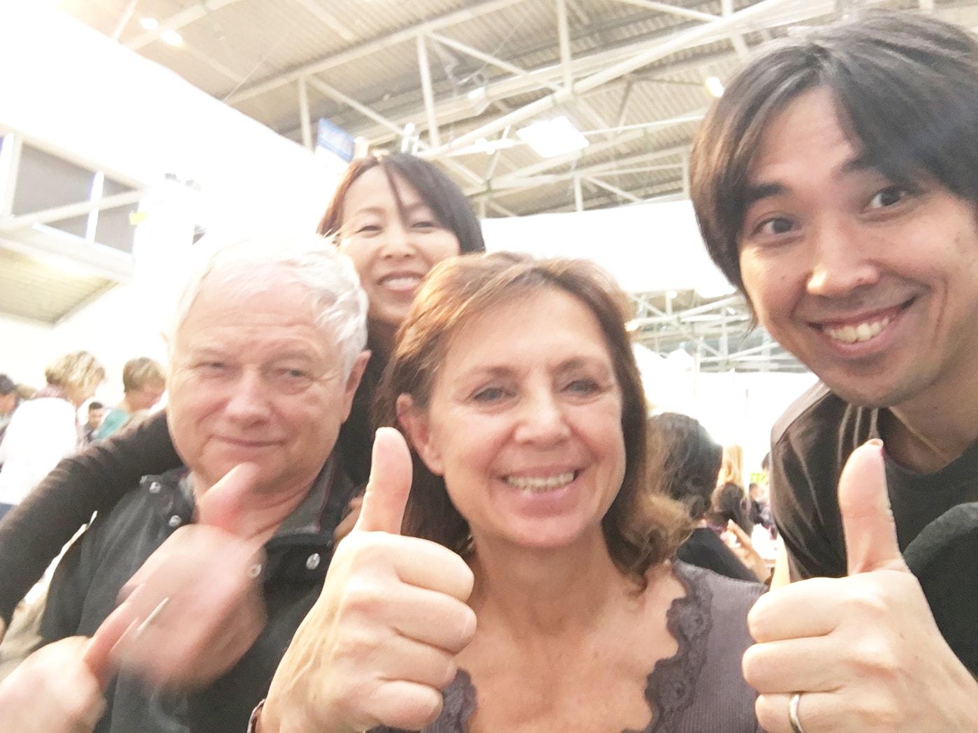 リラクセンス体験後のドイツ人夫妻と共に